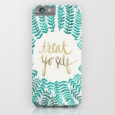 Treat Yo Self – Gold & Turquoise iPhone 6 Slim Case