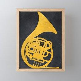 French horn music instrument #frenchhorn #music Framed Mini Art Print