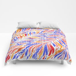 Textured Leaves Comforters