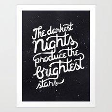 Darkest Nights Art Print