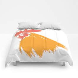 Rooster Cock Head Feather Chicken Bird Gift Comforters