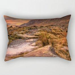Tryfan Mountain Sunrise Rectangular Pillow