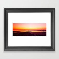 Sun Setting Over Irvine  Framed Art Print
