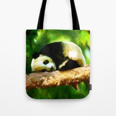 Baby Panda Resting - Painting Style Tote Bag