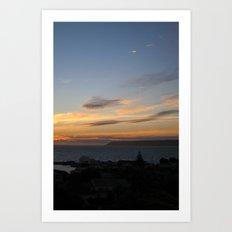 Sunset over Mana Island New Zealand Art Print