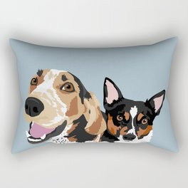 Freddy and Trigger Rectangular Pillow