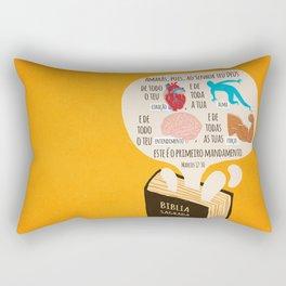 Marcos 12:30 Rectangular Pillow