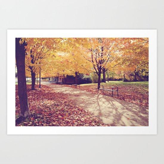 The Autumn Path Art Print