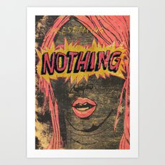 Presenting NOTHING Art Print