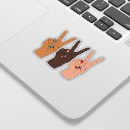 Peace Hands 3 Sticker