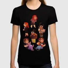 IT Crowd Womens Fitted Tee Black SMALL