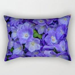 Bunch of Blue Bell Flowers Rectangular Pillow