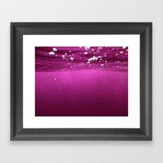 Pink Velvet Ocean Framed Art Print