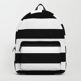 Stripe Black And White Horizontal Line Bold Minimalism Stripes Lines Backpack