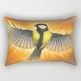 Phoenix tit bird Rectangular Pillow
