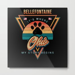 Bellefontaine Ohio Metal Print