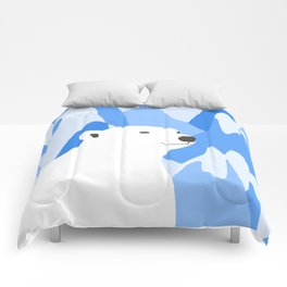 Polar Bear In The Cold Design Comforters