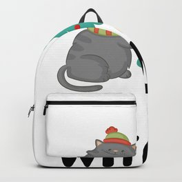 20% OFF! What Funny Cat Pushing Christmas Tree Backpack