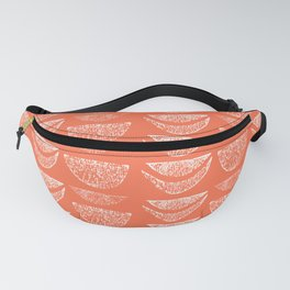 Textured Crescents in Coral Pink Fanny Pack