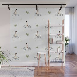 Bike Ride Pattern Wall Mural