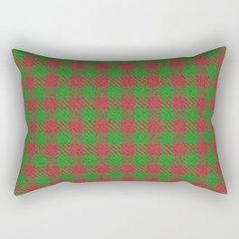 Accident, Medium Carmine on Forest Green Ungulate Plaid Rectangular Pillow