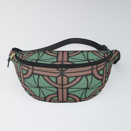 Stained Glass - Green and Red Fanny Pack