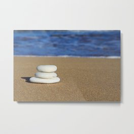 The day at the beach Metal Print