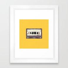 Polka dot cassette tape Framed Art Print