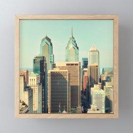 Philadelphia Skyline Framed Mini Art Print