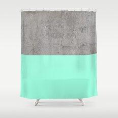 Sea on Concrete Shower Curtain