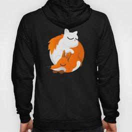 Fox and cat Hoody
