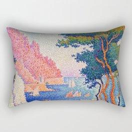 "Paul Signac ""Capo di Noli"" Rectangular Pillow"