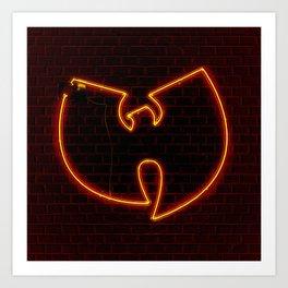 Wu Tang Neon Art Print