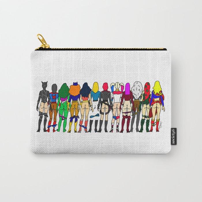 Superhero Butts - Girls - Row Version - Superheroine Carry-All Pouch