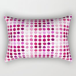 Pink Pink Polka Pink Rectangular Pillow