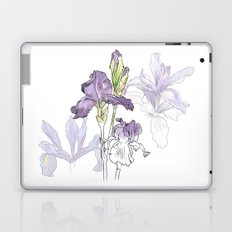 Iris - Flower botanical illustration Laptop & iPad Skin