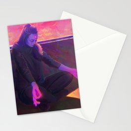 Meditating Girl Stationery Cards