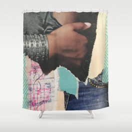 Ripped Jeans Shower Curtain