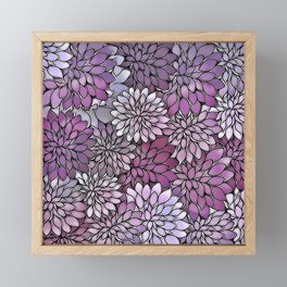 Stain Glass Floral Abstract - Purple-Lavender Framed Mini Art Print