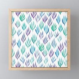 Watercolour Ferns Framed Mini Art Print