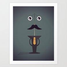 Pin Man Art Print