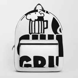 Grillin N Chillin T-Shirt Backpack