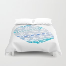 Easter Egg in Blue and Teal Duvet Cover
