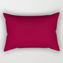 deep dark red or burgundy Rectangular Pillow