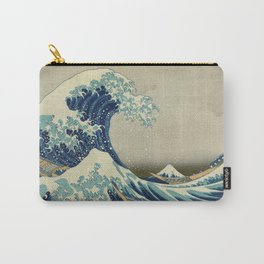 Ukiyo-e, Under the Wave off Kanagawa, Katsushika Hokusai Carry-All Pouch