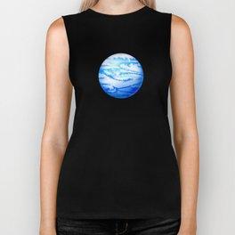 Illustration of watercolor round planet Biker Tank