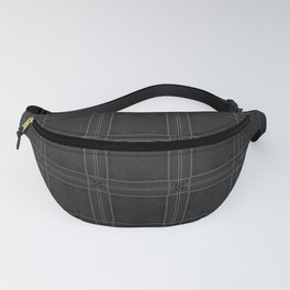Textured Black and White Checkered Pattern Fanny Pack