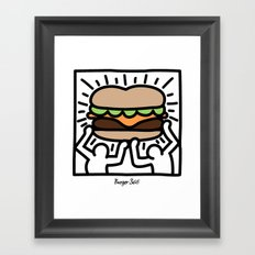 Pop Art Burger #1 Framed Art Print