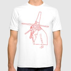 Happy Pilgrim SMALL Mens Fitted Tee White