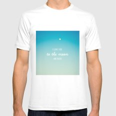 I Love You to the Moon and Back Mens Fitted Tee White MEDIUM